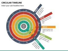 Circular Timeline PPT slide 17
