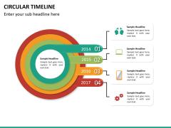 Circular Timeline PPT slide 18