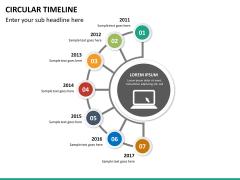 Circular Timeline PPT slide 19