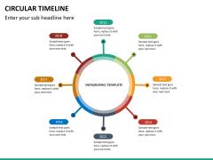 Circular Timeline PPT slide 21