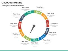 Circular Timeline PPT slide 22