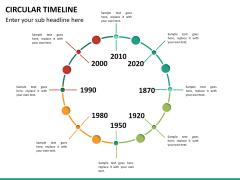 Circular Timeline PPT slide 23