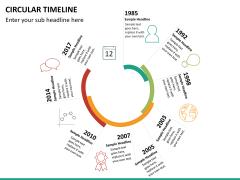 Circular Timeline PPT slide 24