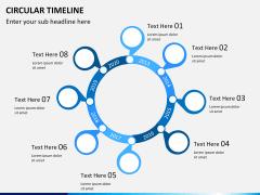 Circular Timeline PPT slide 1