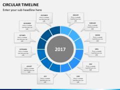 Circular Timeline PPT slide 11