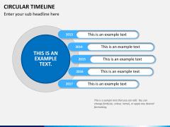 Circular Timeline PPT slide 12