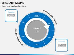 Circular Timeline PPT slide 13