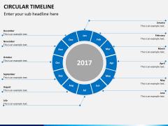 Circular Timeline PPT slide 15