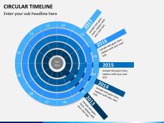 Circular Timeline PPT slide 2