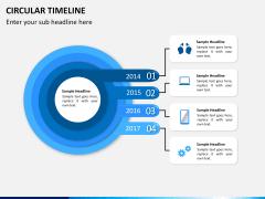 Circular Timeline PPT slide 3