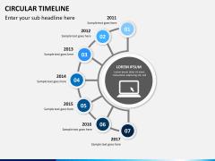 Circular Timeline PPT slide 4