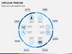 Circular Timeline PPT slide 5