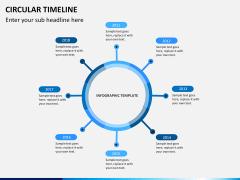 Circular Timeline PPT slide 6