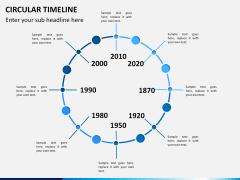 Circular Timeline PPT slide 8