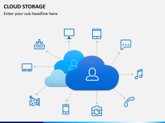 Cloud storage PPT slide 1