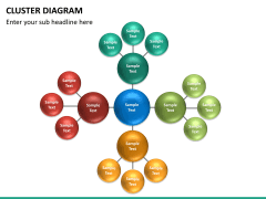 Cluster diagram PPT slide 13