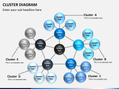 Cluster diagram PPT slide 1