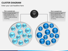 Cluster diagram PPT slide 5