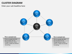 Cluster diagram PPT slide 8
