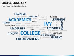 College/University PPT slide 7