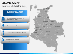 Colombia map PPT slide 11