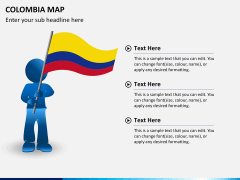 Colombia map PPT slide 16