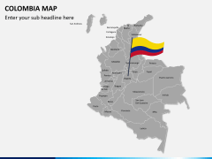 Colombia map PPT slide 2
