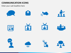 Communication Icons PPT slide 1