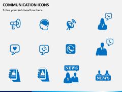 Communication Icons PPT slide 2