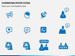 Communication Icons PPT slide 2