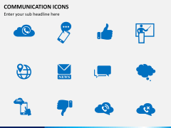 Communication Icons PPT slide 3