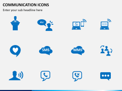 Communication Icons PPT slide 4