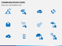 Communication Icons PPT slide 6