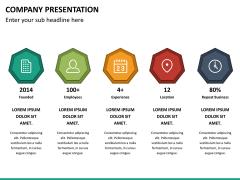 Company presentation PPT slide 18