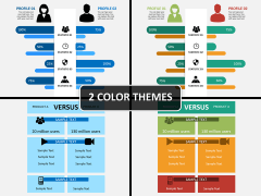 Compare infographics PPT cover slide