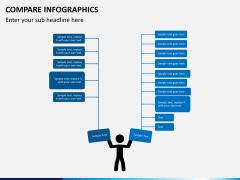 Compare infographics PPT slide 3