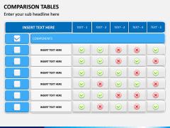 Comparison Tables PPT slide 13