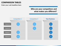 Comparison Tables PPT slide 19