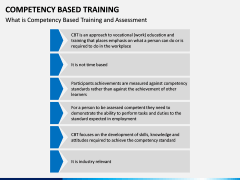Competency Based Training PPT slide 6