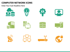 Computer Network Icons PPT slide 4