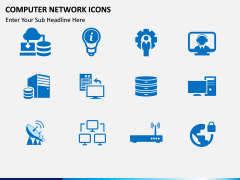 Computer Network Icons PPT slide 1