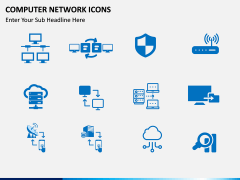 Computer Network Icons PPT slide 3
