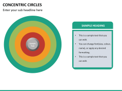 Concentric circles PPT slide  24