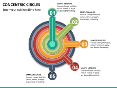 Concentric circles PPT slide  25