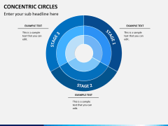 Concentric circles PPT slide  1