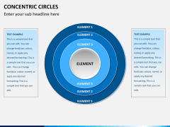 Concentric circles PPT slide  15