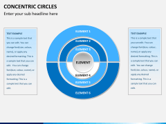 Concentric circles PPT slide  16