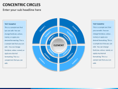 Concentric circles PPT slide  17