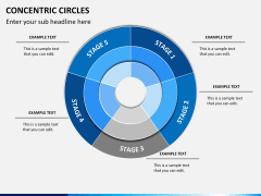 Concentric circles PPT slide  3