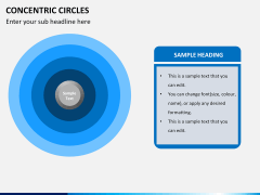 Concentric circles PPT slide  4